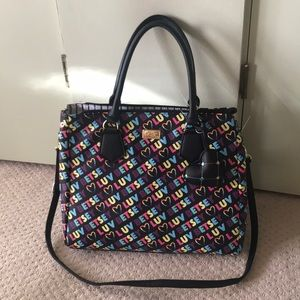 New Betsey Johnson rainbow 🌈 Logo Bag Rare